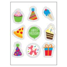 Birthday and Celebrations Edible Sticker Sheet (3.5 in x 4.75 in) - 9 edible images