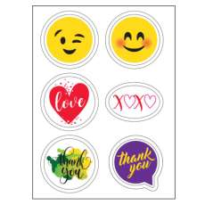 Thank You and Special Occasions Edible Sticker Sheet (3.5 in x 4.75 in) - 6 edible images